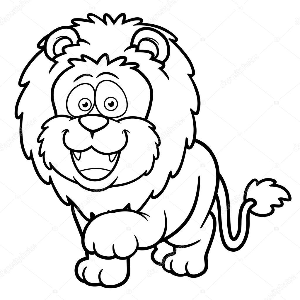 León de dibujos animados — Vector de stock © sararoom #29736993