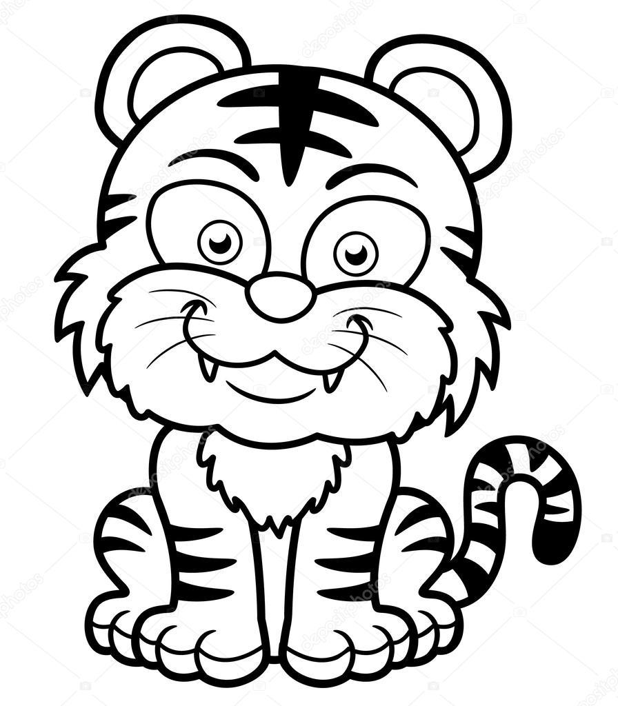 Fotos Tigre Para Colorear Tigre De La Historieta Vector De