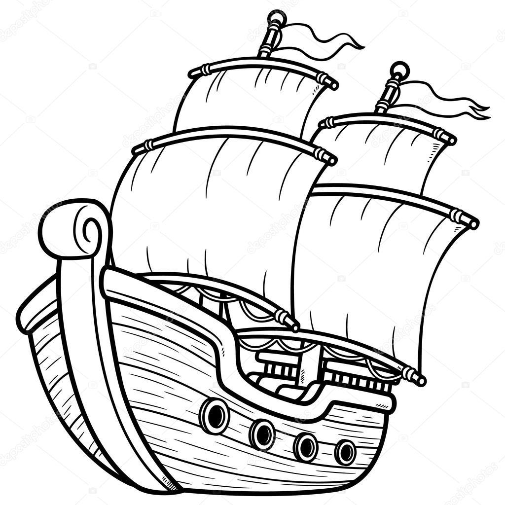 Dibujos Infantiles Para Colorear Barco Pirata Barco Pirata