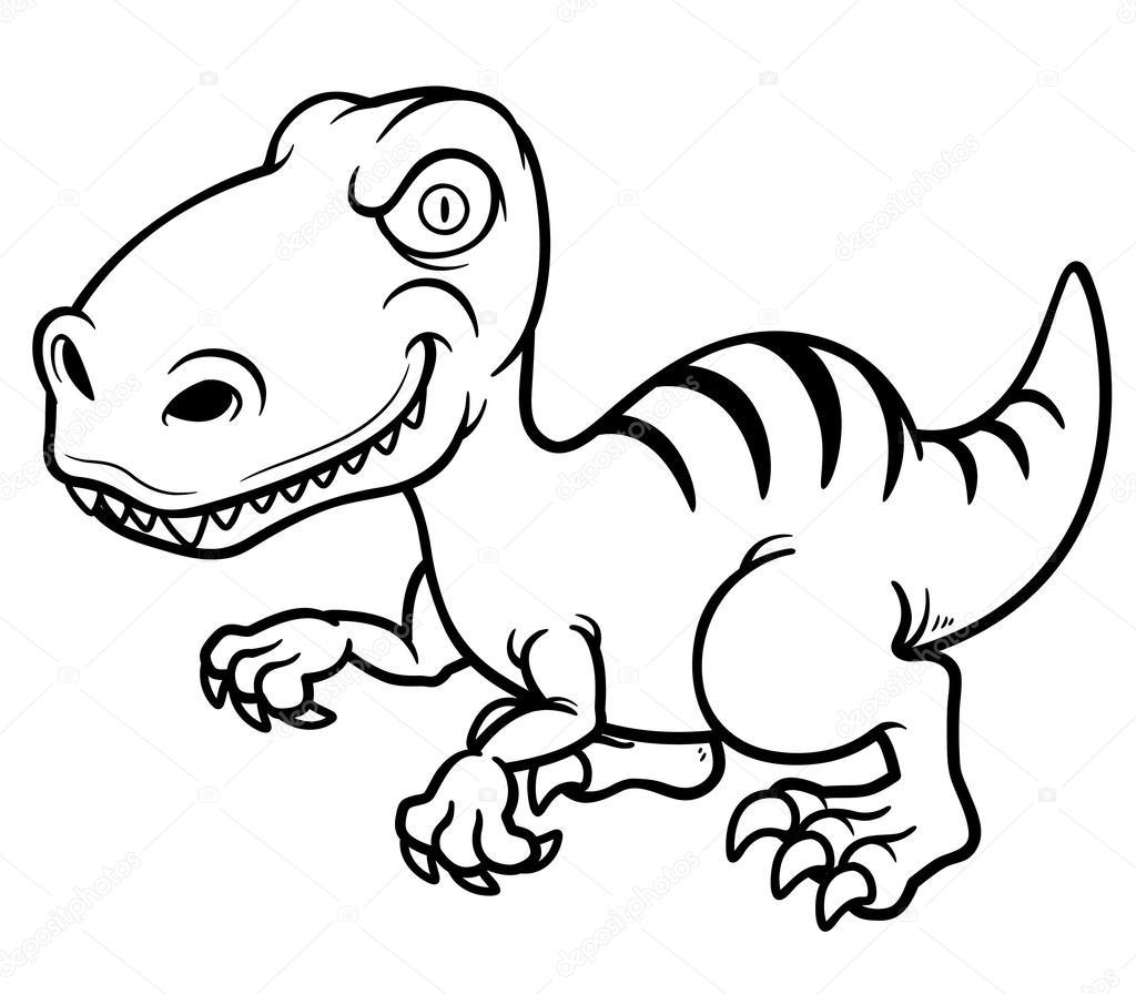 çizgi Film Dinozor Stok Vektör Sararoom 30753385