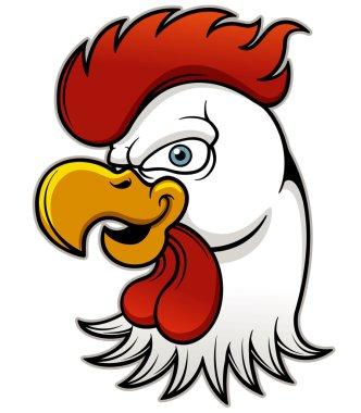 Angry Cock Head