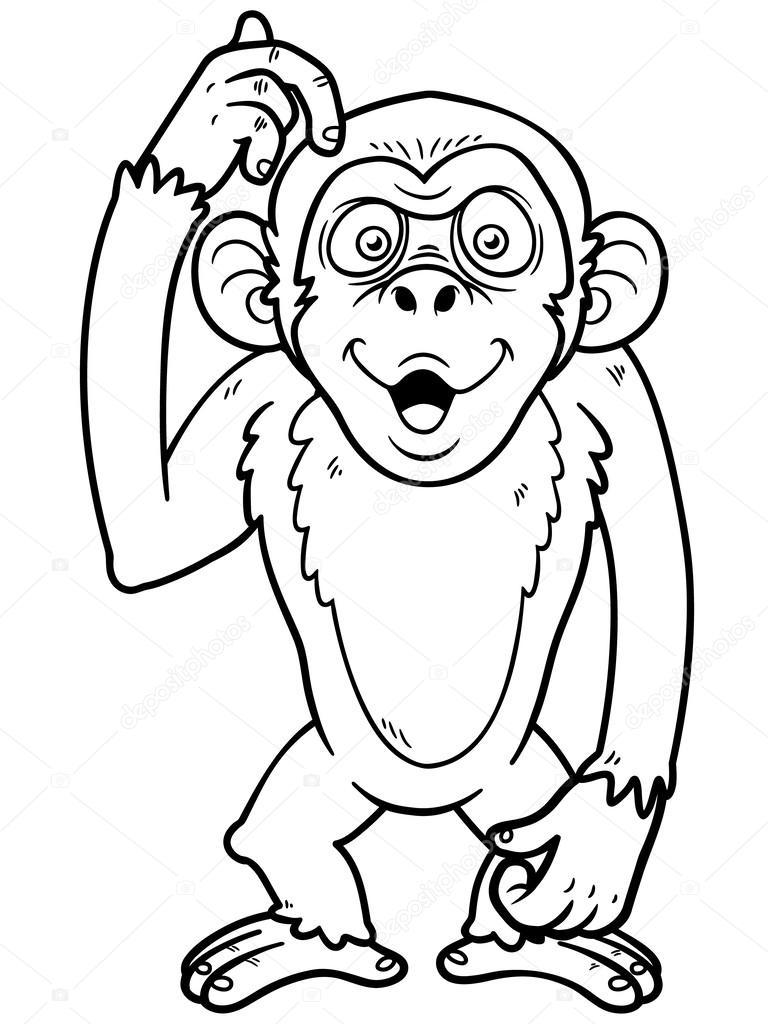 mono de dibujos animados — Archivo Imágenes Vectoriales © sararoom ...