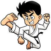Fényképek Fiú Karate rúgás