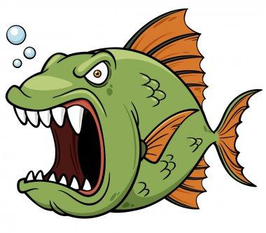 Angry fish cartoon