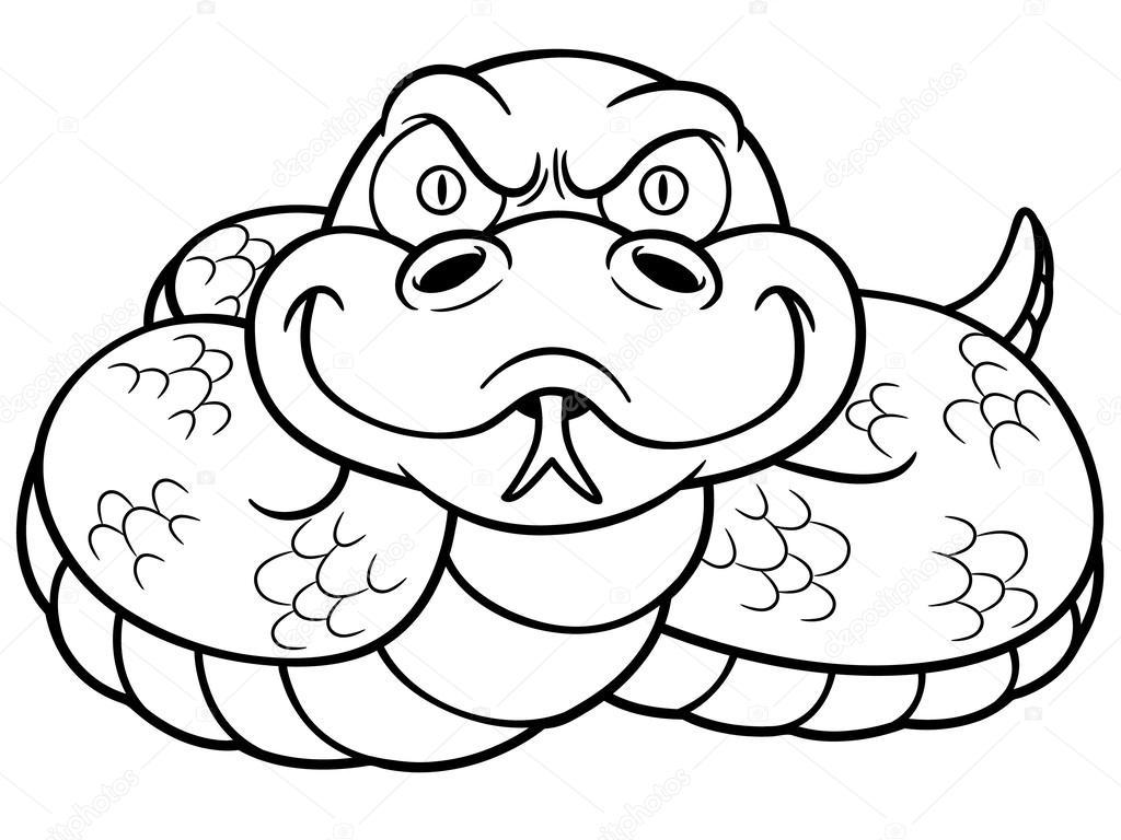 serpiente de la historieta — Archivo Imágenes Vectoriales © sararoom ...