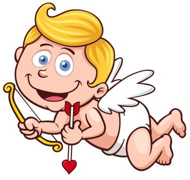 Vector illustration of a Valentine's Day cupid clip art vector