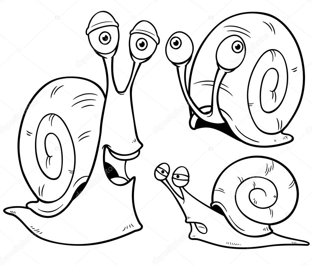 dibujos animados de caracol — Vector de stock © sararoom #39389371
