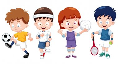 Kids sports characters