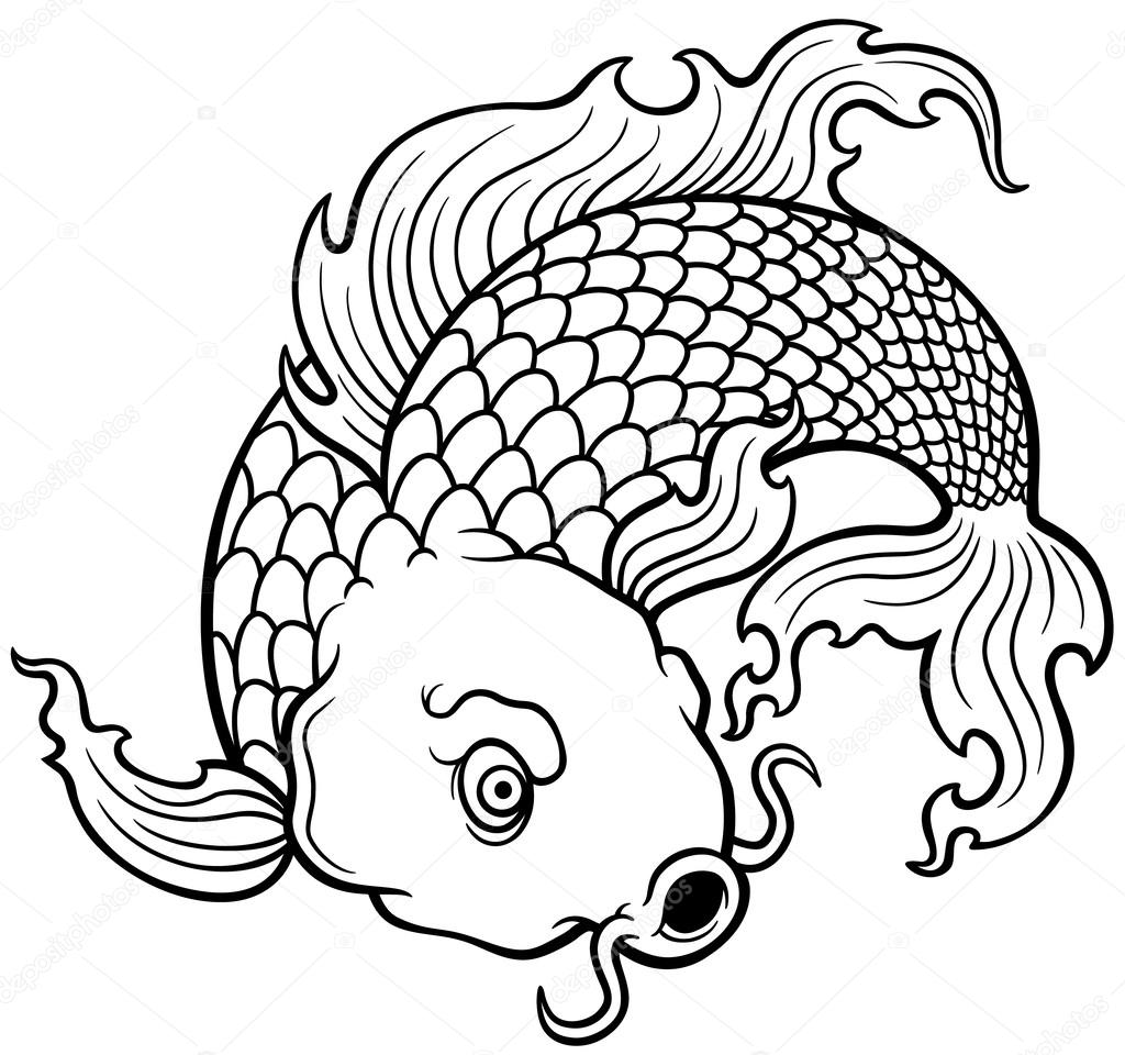 pez koi — Vector de stock © sararoom #44322281