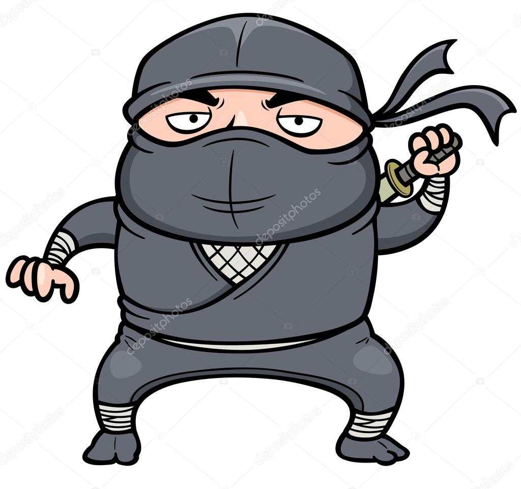 Cartone animato ninja u vettoriali stock sararoom