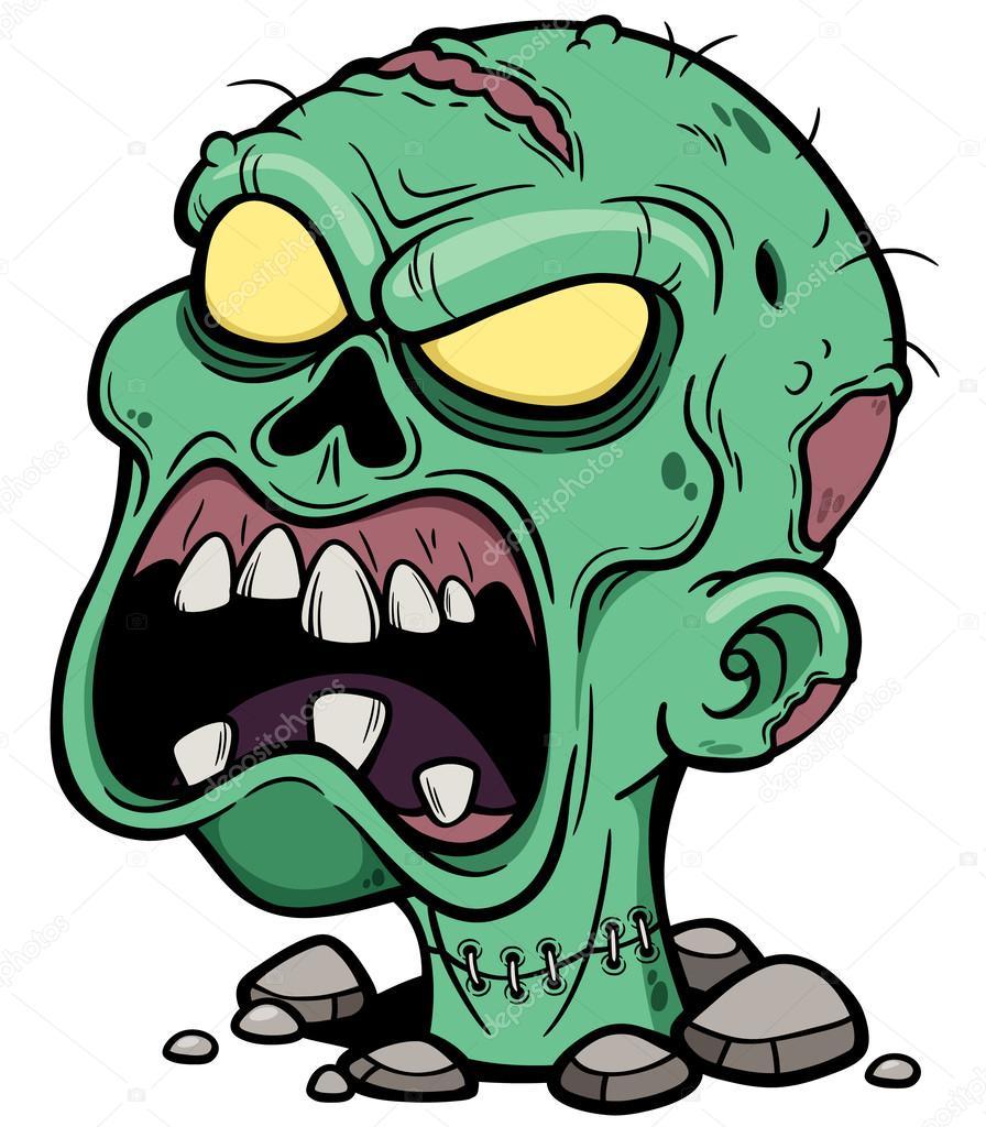 Zombie de dessin anim image vectorielle sararoom - Zombie dessin ...
