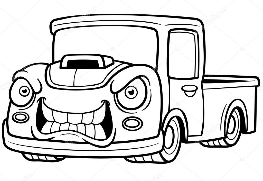 Kreslena Auta Pickup Stock Vektor C Sararoom 45156463