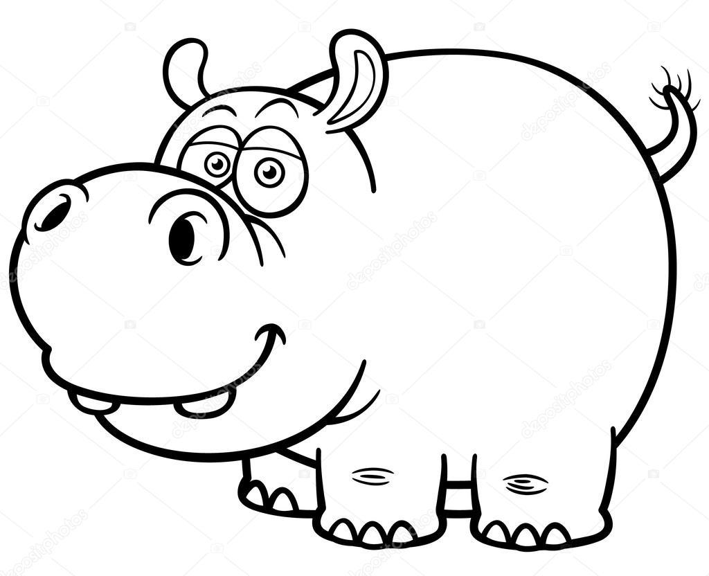 hipopótamo — Archivo Imágenes Vectoriales © sararoom #47443251