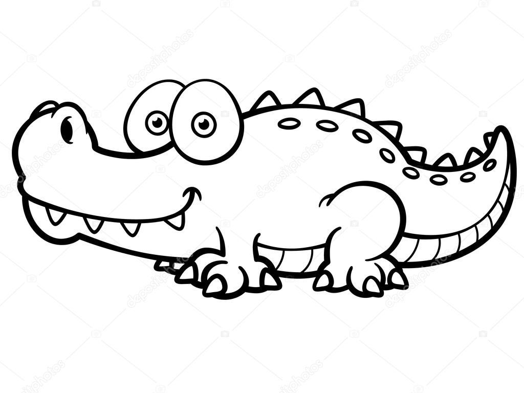 cocodrilo de dibujos animados — vector de stock © sararoom