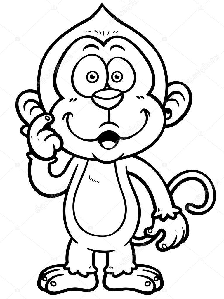 Karikatür Maymun Stok Vektör Sararoom 48909005