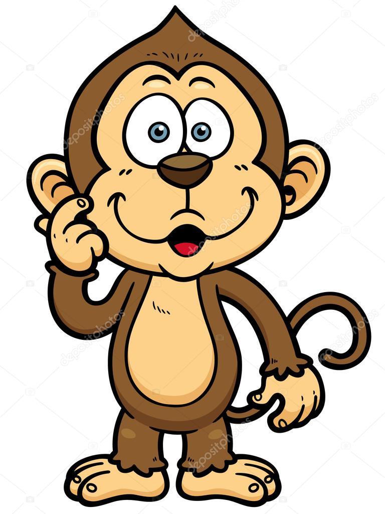 cartoon monkey stock vector sararoom 48909011 rh depositphotos com monkey vector cute monkey vector free