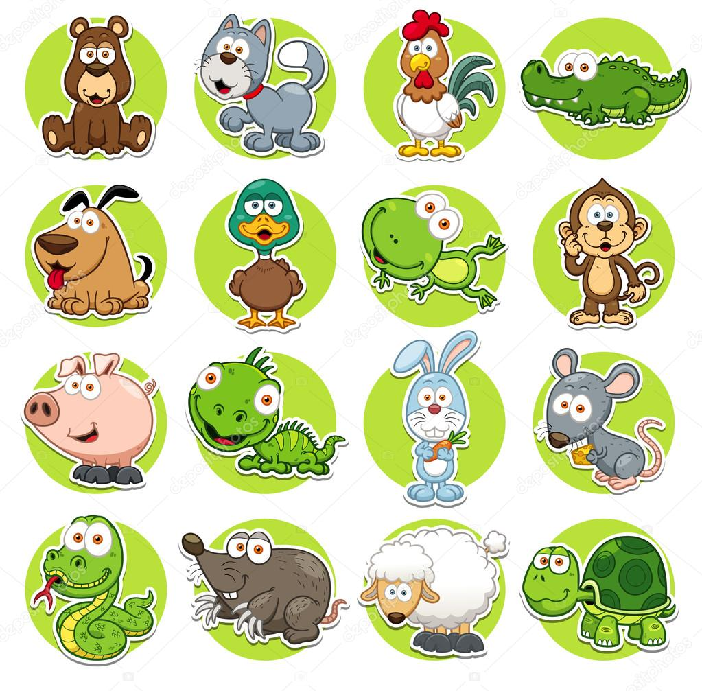 Vector illustration of Animals set Cartoon stock vector