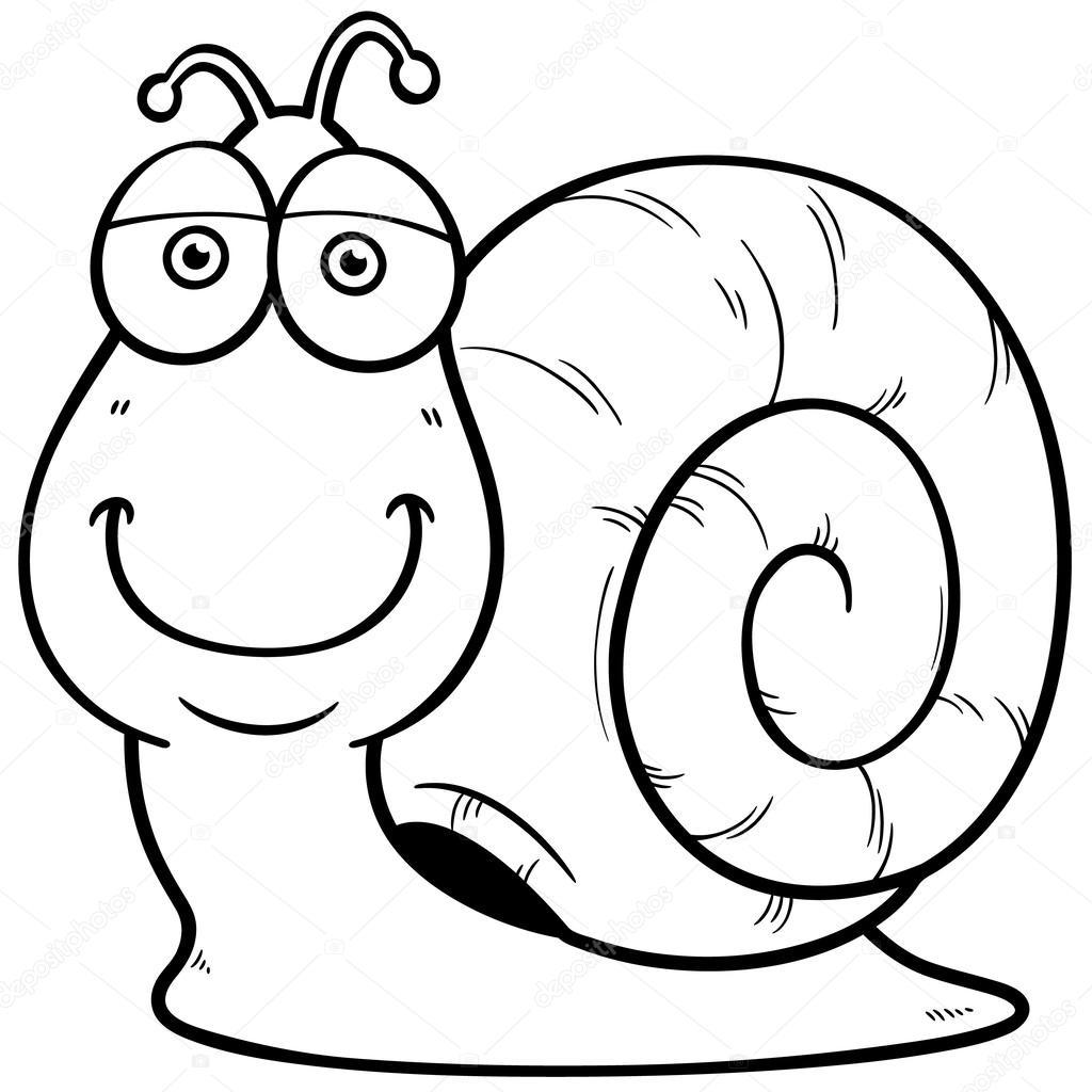 dibujos animados de caracol — Archivo Imágenes Vectoriales ...