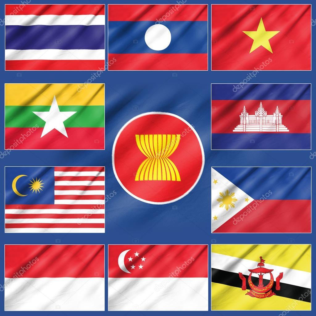 asean 経済共同体の旗 - ストッ...