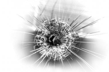 Bullet hole stock vector