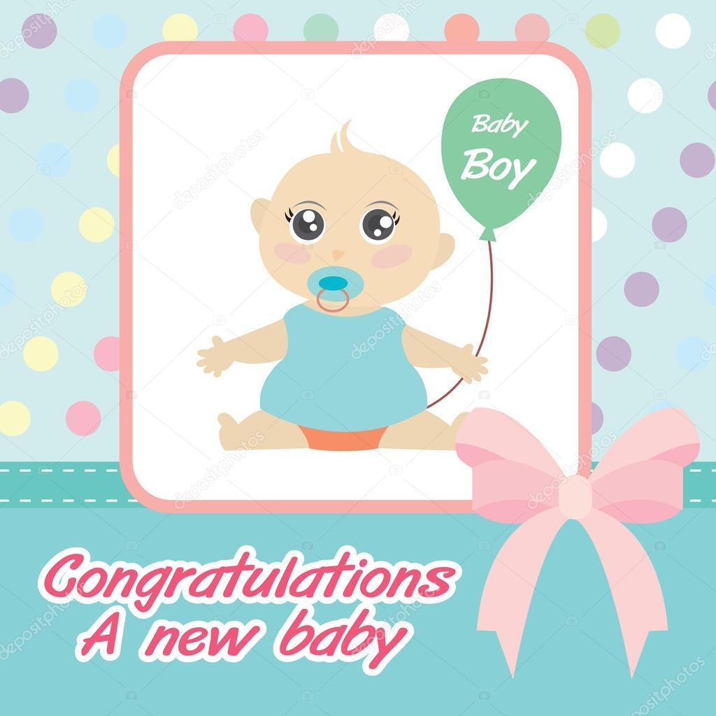 Vector card new born baby boy stock vector kaisorn4 43540451 vector card new born baby boy stock vector m4hsunfo