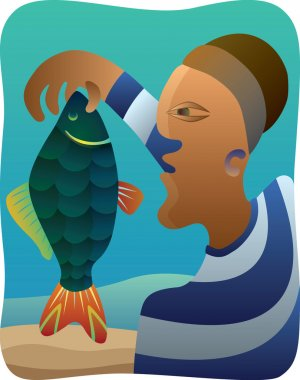 Cubist Fisherman