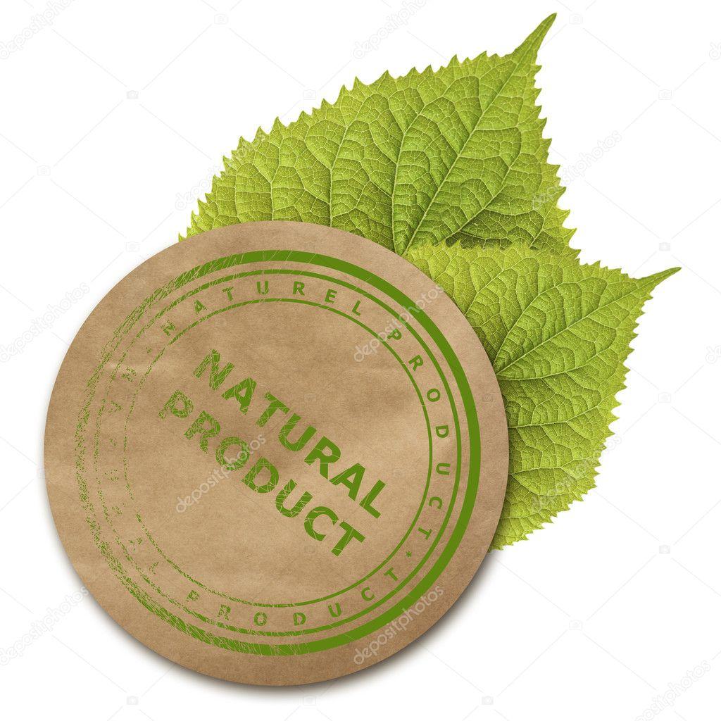 Eco paper sticker