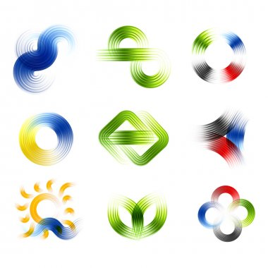 Different abstract logos and elements for design(icon)