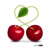 Fényképek vektor szív szimbólum-meggy