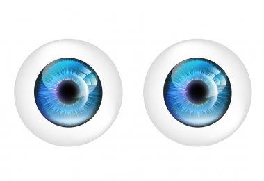 Vector eye balls isolated. stock vector