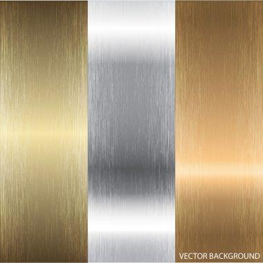 Aluminum, bronze and brass textures