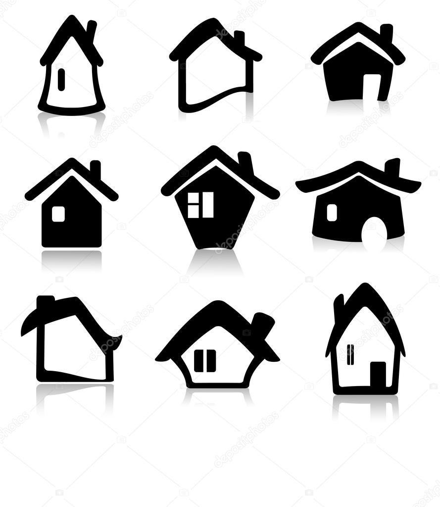 Icono casa vector vector de stock 26910705 depositphotos - Dibujos de tejados ...