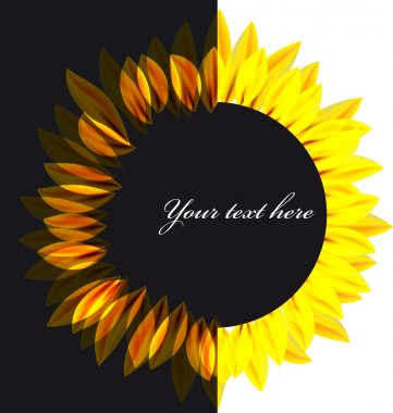 Abstract vector sunflower background