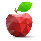 abstraktní červené jablko