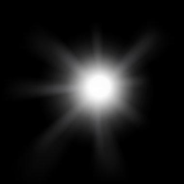 Sun on black