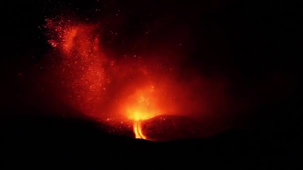 attività vulcanica esplosiva di notte