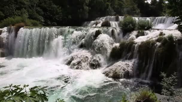 Shot of waterfall on Krka river-Croatia