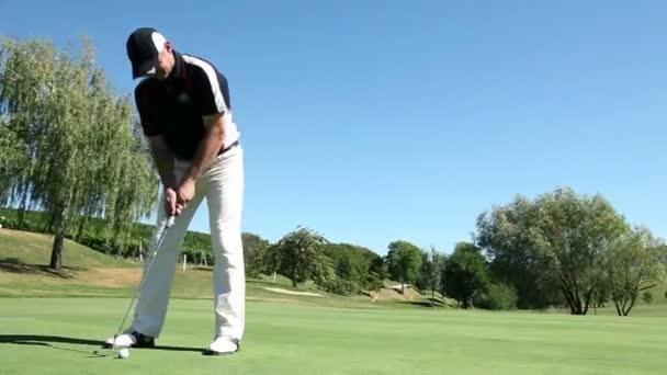 Shot of a man golfer