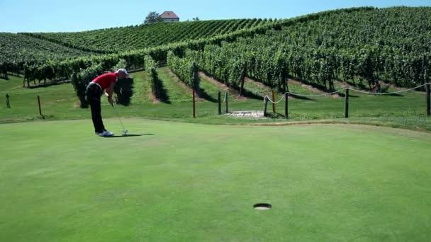 Shot of a woman golfer