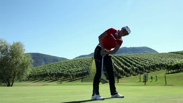 Aufnahme von Frau golfer