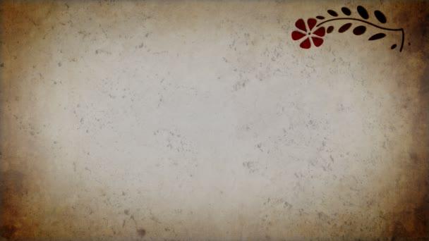 Animált florals a régi papír