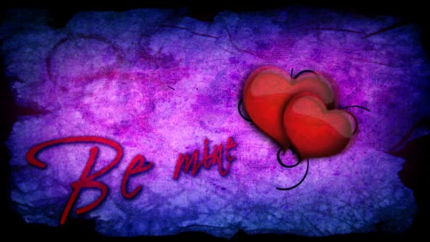 Be mine inscription with beating heart for Valentines day