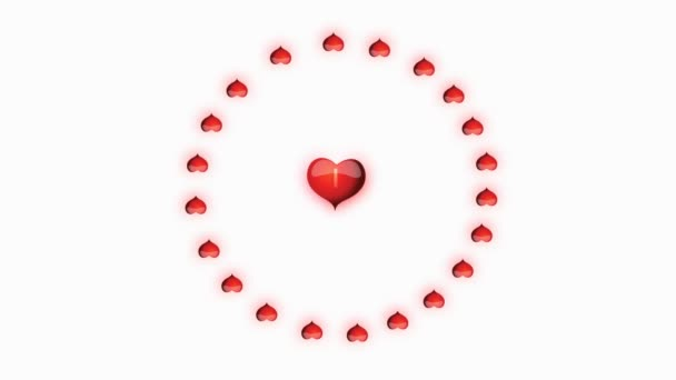 Red heart with inscription I love you in the middle animation for Valentines day
