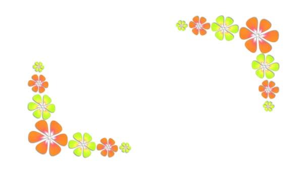 Animált színes florals növekvő