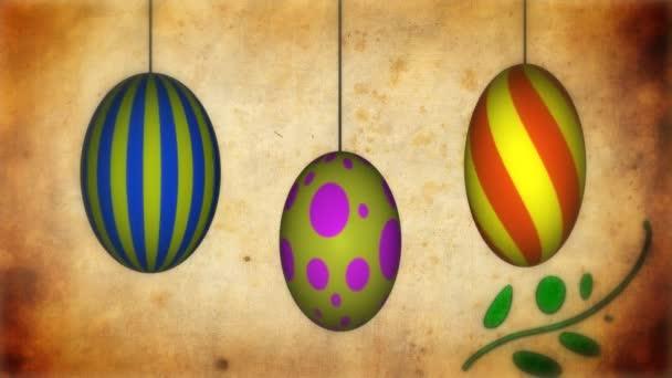 Spinning húsvéti tojás a növekvő indák animáció