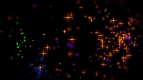 Színes csillagok jelennek meg és dissappearing