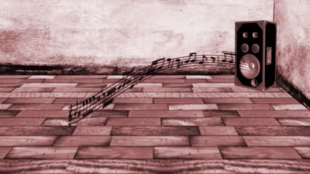 animate musica note modulo altoparlante