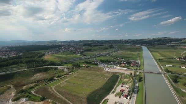 Panorama snímek z vrtulníku