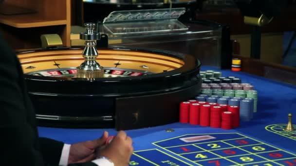 Hraní rulety v kasinu