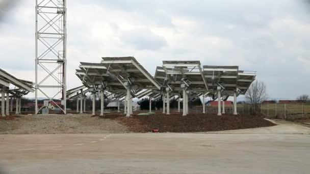 Schuss eines Solarkraftwerks
